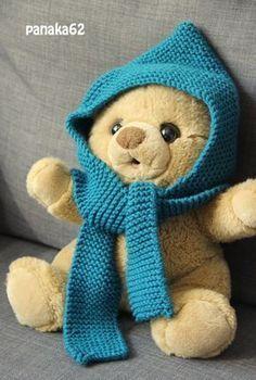 Bonnet écharpe bleu canard Phildar tuto (1)