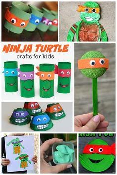 Incredible Ninja Turtle Crafts So many fun Ninja Turtle crafts for kids here! Love turning my kids favorite characters into crafts.So many fun Ninja Turtle crafts for kids here! Love turning my kids favorite characters into crafts. Daycare Crafts, Craft Activities For Kids, Toddler Crafts, Crafts To Do, Diy Crafts For Kids, Projects For Kids, Art For Kids, Craft Projects, Arts And Crafts