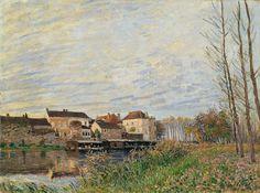 Alfred Sisley - Un soir à Moret, Fin d'octobre