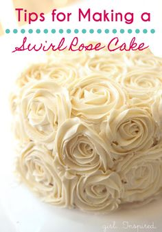 Follow the easy tips in this tutorial to help you showcase your cake decorating skills by creating this absolutely beautiful Swirl Rose Cake.