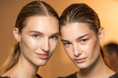Makeup genius Diane Kendal is known for creating lit-from-within skin, which is exactly what she did for the Prabal Gurung show by using MAC Pigment in Vanilla.