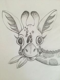 Baby giraffe sketch print giraffe pencil sketch by nikiink on Etsy Cool Art Drawings, Pencil Art Drawings, Doodle Drawings, Art Drawings Sketches, Disney Drawings, Cartoon Drawings, Doodle Art, Sketches Of Animals, Beautiful Easy Drawings