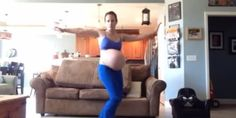 """Pregnant Mom Tries To Induce Labor With Awesome 'Thriller' Dance Routine.  February 11 was her due date, but her baby boy wasn't showing any signs of emerging soon. So a pregnant Florida mom decided to try to give her son a little boost -- with an awesome Michael Jackson-inspired dance.   """"Someone told me that..."""