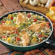 Chicken Rice Skillet Recipe | Taste of Home Recipes
