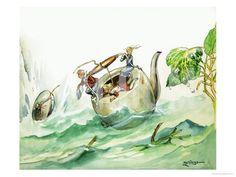 The Borrowers - by Philip Mendoza Mendoza, Gradient Color, Figurative Art, Find Art, Framed Artwork, Printing Process, The Borrowers, Giclee Print, Pop Culture