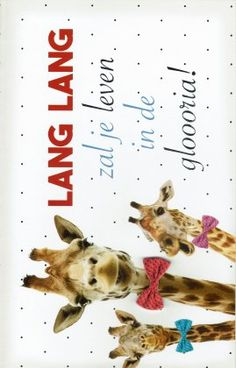 LANG LANG zal je leven verjaardagskaart met giraffen. Movie Posters, India, Film Poster, Billboard, Film Posters