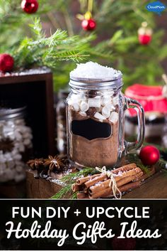 Want to make some homemade presents and on a budget this Christmas? Try these 5 fun DIY and upcycle holiday gift ideas! Simple handmade gift ideas to make as a family!