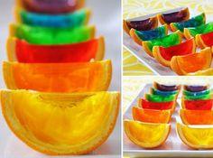 como hacer gelatina de naranaja para fiestas infantiles