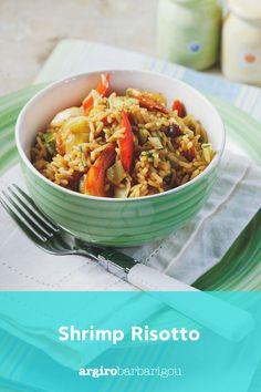 Shrimp Risotto, Greek, Tasty, Lunch, Fish, Summer, Recipes, Summer Time, Eat Lunch