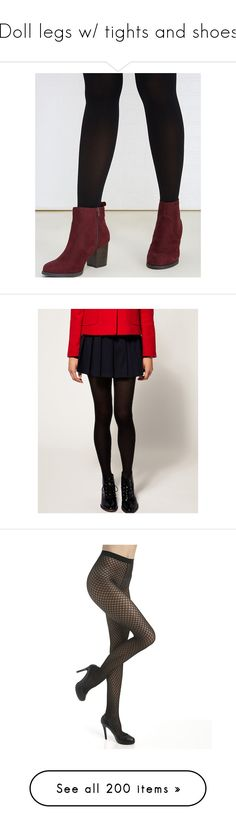 """""""Doll legs w/ tights and shoes"""" by jujubeeluvsu ❤ liked on Polyvore featuring intimates, black, wet seal, hosiery, tights, legs, doll parts, paper doll, paperdoll and opaque tights"""