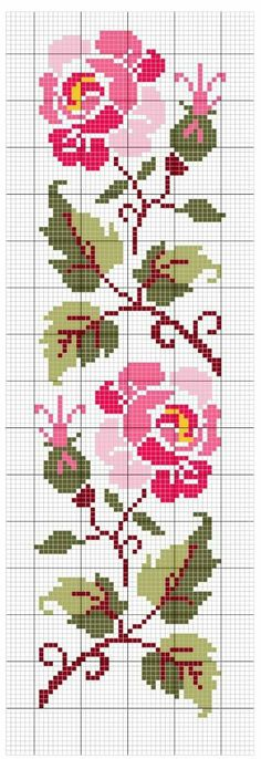 Embroidery patterns free modern 20 Ideas for 2019 Cross Stitch Bookmarks, Cross Stitch Rose, Cross Stitch Borders, Cross Stitch Flowers, Cross Stitch Charts, Cross Stitch Designs, Cross Stitching, Cross Stitch Embroidery, Hand Embroidery