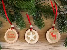 Tree decorations: wood – set of tree decorations, tree slices, deer, star, wood – a design … – Woodworking 2020 Tree Decorations, Christmas Decorations, Christmas Ornaments, Holiday Decor, Merry Christmas, Xmas, Tree Slices, Diy Weihnachten, Wood Table