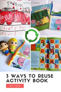 3 Ways to upcycle and repurpose scribbled activity books by turning them into games, activities and decorations Kids Activity Books, Indoor Activities For Kids, Learning Activities, Toddler Artwork, Photo Scavenger Hunt, Toddler Preschool, Preschool Ideas, Family Board Games, Play Based Learning
