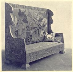 Cool Furniture, Furniture Design, Diy Bench, Russian Fashion, Wingback Chair, Accent Chairs, Carving, Woodworking, Architecture