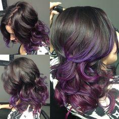 Purple ombré hair by me!
