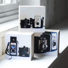 Vintage Cameras Three sculptural photoblocks a by littleputbooks, $34.00