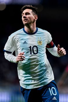 MADRID, SPAIN - MARCH Leo Messi of Argentina in action during the international friendly match between Argentina and Venezuela at Estadio Wanda Metropolitano on March 2019 in Madrid, Spain. (Photo by Quality Sport Images/Getty Images) Messi Team, Messi Vs, Messi And Neymar, Messi Pictures, Messi Photos, Soccer Pictures, Lionel Messi Barcelona, Barcelona Team, Lionel Messi Biography