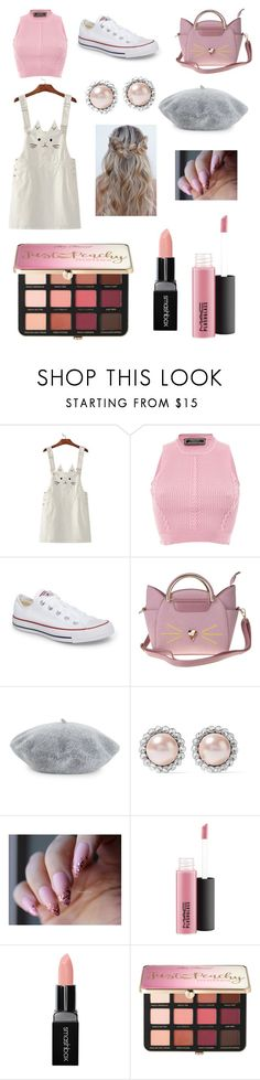 """The girly streets of New York"" by mads863 ❤ liked on Polyvore featuring Versace, Converse, Helene Berman, Miu Miu, Smashbox and Sephora Collection"