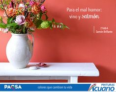 El color salmón ideal para decorar recibidores y estancias #ColoresQueCambianTuVida