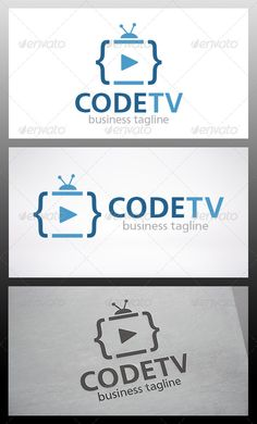 Code Tv  - Logo Design Template Vector #logotype Download it here: http://graphicriver.net/item/code-tv-logo/6346206?s_rank=828?ref=nexion