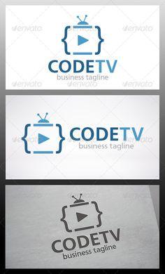 Code Tv  - Logo Design Template Vector #logotype Download it here: http://graphicriver.net/item/code-tv-logo/6346206?s_rank=828?ref=nexion