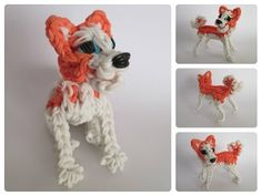 Rainbow Loom akita puppy Part 1/2 Loombicious - YouTube