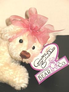 Annette Funicello Annette Funicello Pink Bear With White Bow On Head To Suit The PeopleS Convenience Bears