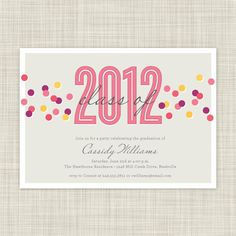 Graduation Party Invitations - Graduation Invites - Printable Party Invites. $18.00, via Etsy.