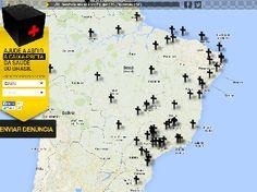 Associação lança site que reúne denúncias na saúde do Brasil