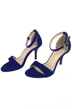 Sandales à talons bleu roi suédé pour soirée mariage Suede, Heels, Fashion, Blue Sandals Heels, Blue Heels, Barefoot, Color Blue, King, Fashionable Outfits