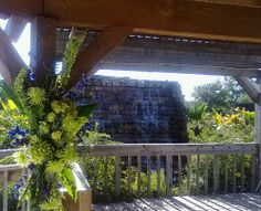 The Rose Pavilion waterfall makes a beautiful ceremony backdrop Clark Gardens, Ceremony Backdrop, Pavilion, Backdrops, Waterfall, Park, Rose, Plants, Beautiful