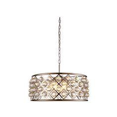 Elegant Lighting Madison Polished Nickel Six-Light Pendant ($1,190) ❤ liked on Polyvore featuring home, lighting, ceiling lights, chain lamp, chain lighting, sphere lights, orb lamp and elegant lighting