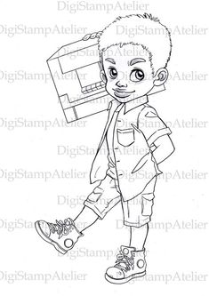 african american boy coloring pages - photo#28