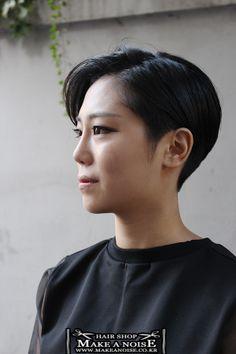 [가인특집]홍대헤어샵 메이크어노이즈 홍대조이의 여자숏컷 여자투블럭컷 여자짧은머리스타일 : 네이버 블로그