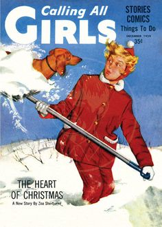 """Dachshunds in Media: In September 1941 """"Calling All Girls,"""" began as the first comic book for female readers. By December 1945 this monthly from the publishers of """"Parent"""" magazine was text only. ~ December 1959 ~"""
