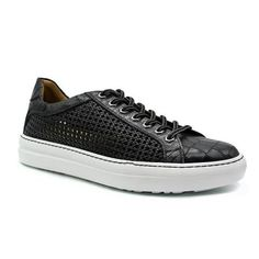 Zelli Vento Men's Shoes Black Crocodile Print/ Lizard Print / Weave Calf-Skin Leather Sneakers 65-205... Italian Sneakers, Black 13, Color Black, Mens Designer Shoes, Men S Shoes, Leather Sneakers, Crocodile, Black Shoes, Calves