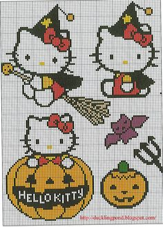 Hello Kitty Halloween perler bead patterns