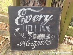 Hand lettered distressed wooden signs ohmygluestick.com  Facebook: Oh My Gluestick