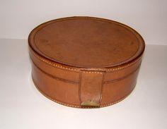 1930s John Pound & Co Leather Collar Case Vintage by BiminiCricket, $65.00