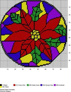 STAINED GLASS POINSETTIA by GrannyS Designs