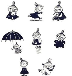 """The character """"Little-My"""" from Moomin- a hugely famous Finnish comic by Tove Jansson Little My Moomin, Tove Jansson, Moomin Tattoo, Les Moomins, Handpoke Tattoo, Moomin Valley, Children's Book Illustration, Illustrators, Tatoo"""