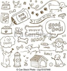 Dog Doodles - csp15107446