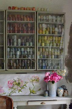 Claire Basler art studio