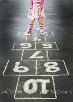 Hop Scotch...maybe painted on the floor???