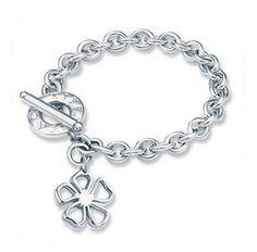 Tiffany & Co Outlet Floral Tag Toggle Bracelet