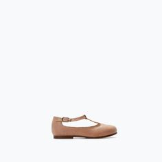 LEATHER T-STRAP FLATS-Shoes-Baby girl (3 months - 3 years)-KIDS | ZARA United States