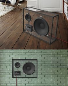 The transparent design lets the speaker blend in to any living room out there. The size can be big enough to offer a good sound quality, yet the speaker takes little visible space Audio Room, Transparent Design, Speaker Design, Sounds Great, Speaker System, Speaker Kits, Cool Tech, Deco Design, Design Tech