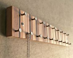 Jewelry Organizer - Jewelry Hanger - Jewelry Display - Necklace and Ring Organizer - Modern Metal and Wood