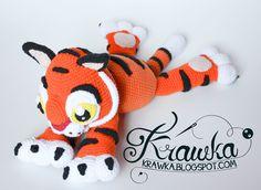 Krawka: Baby Tiger Rajah crochet pattern inspired on tiger character from Disney's movie Aladdin
