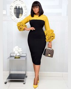 Material: PET FiberPopular Elements: ColorblockSize: L, Size Unit Bust Waist Hips Length Shoulder Sleeve Length L cm 84 64 86 109 37 50 inch XL cm 88 68 90 109 38 50 inch cm 92 72 94 109 39 50 inch 4 African Wear Dresses, Latest African Fashion Dresses, African Print Fashion, African Attire, African Dress Styles, Chic Dress, Classy Dress, Corporate Outfits, Corporate Wear